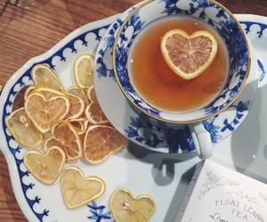 tea, lemon, and drink image