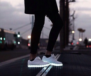 black, light, and shoes image