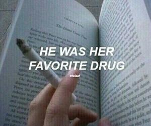 book, drug, and smoking image