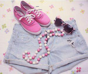 pink, shoes, and glasses image