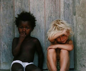 black, children, and white image