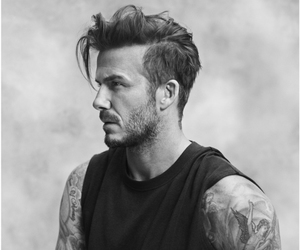David Beckham, tattoo, and beckham image