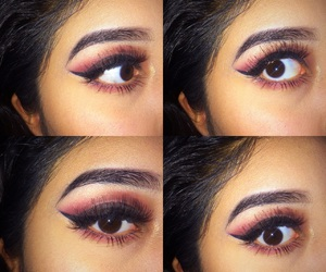 brown eyes, bomb, and lashes image