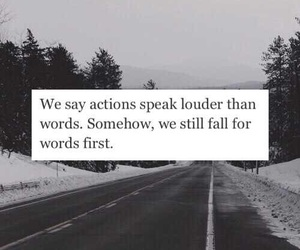 words, actions, and quote image