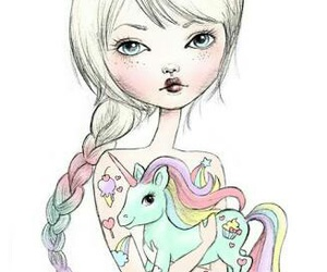 cute, art, and unicorn image