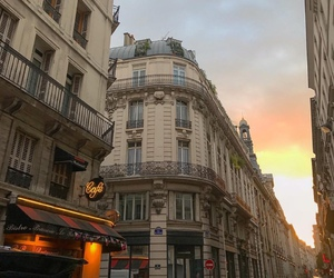 sunset, city, and paris image