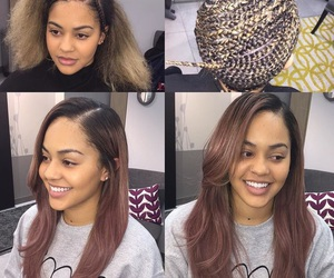 brown, light brown hair, and light weave image