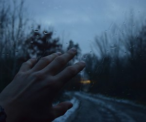 rain, grunge, and hand image