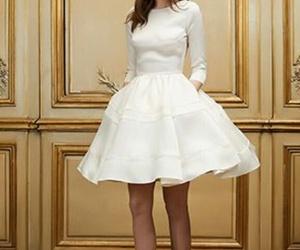 short dress, wedding dress, and boho wedding image