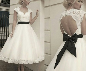 black and white, lovely, and retro dress image