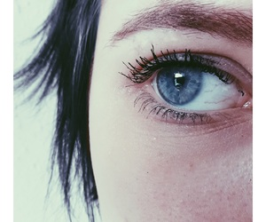 alone, auge, and blue eyes image
