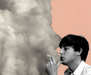 Paul McCartney, smoke, and the beatles image