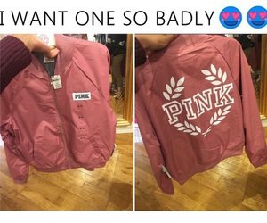 pink, jacket, and cute image