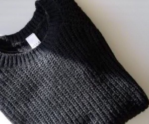 black, style, and knitted image