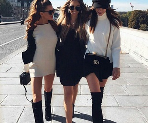 friends, outfit, and goals image