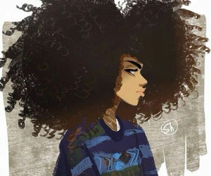 Afro, art, and drawing image
