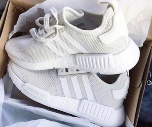 sneakers, white, and adidas image