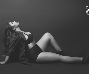 black and white, confidence, and curves image
