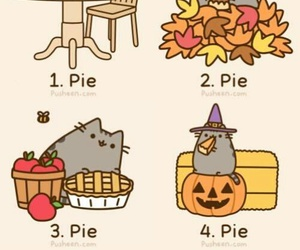 pie, cat, and fall image