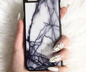 iphone, marble, and phone cover image