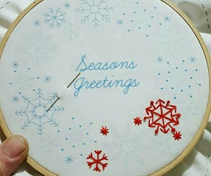 embroidery, seasons greetings, and craft kit image
