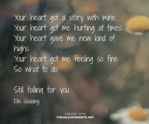 Ellie Goulding, heart, and Lyrics image