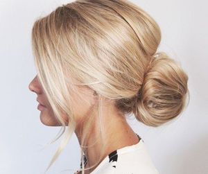 hair, bun, and fashion image