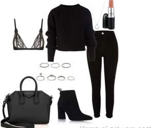 black, inspired, and Polyvore image