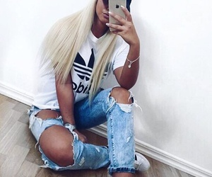 adidas, fashion, and blonde image