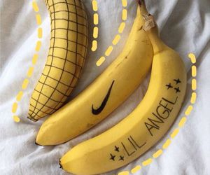 yellow, banana, and nike image