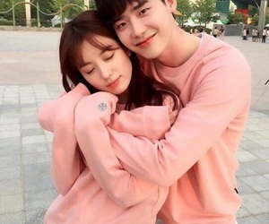 couple, kdrama, and w image
