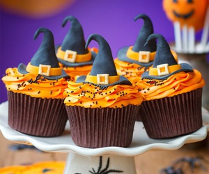 Halloween, cupcake, and witch image