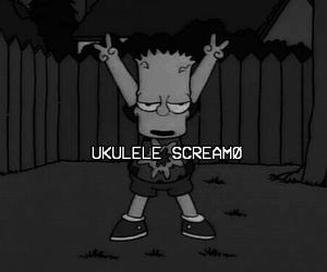b&w, bart simpson, and grunge image