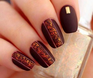 autunno, unghie, and nail image