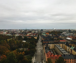 autumn, building, and buildings image