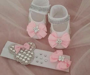 baby, pink, and shoes image