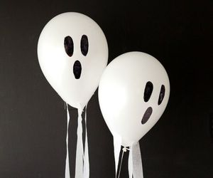 balloon, diy, and ghost image