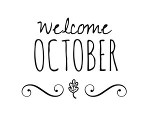 autumn, october, and welcome image