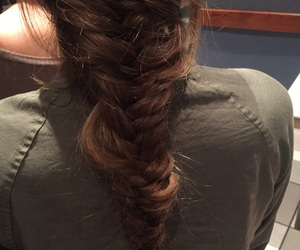 braids, fishtail, and messy image