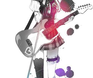anime, anime girl, and guitar image