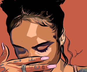 kehlani, art, and girl image