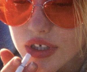 girl, cigarette, and aesthetic image