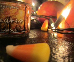 candles, candy, and leaves image