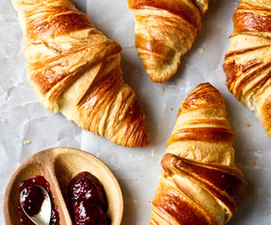 croissants, delicious, and sweet image