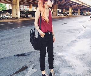 lookbook, red hair, and style image
