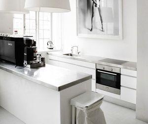 kitchen, white, and interior image