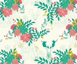 pattern, background, and flowers image