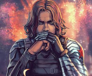 winter soldier, bucky barnes, and bucky image