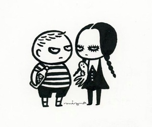 drawing, Halloween, and the addams family image