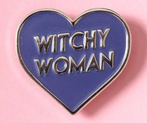 pin, pink, and witch image
